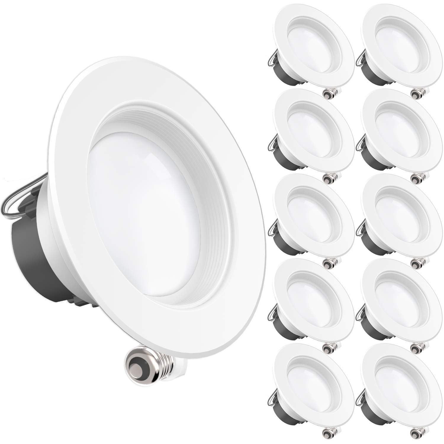 Sunco Lighting 10 Pack 11watt 4 Inch Energy Star Ul Listed Dimmable Led Downlight Retrofit Baf Downlights Retrofit Recessed Lighting Recessed Lighting Kits