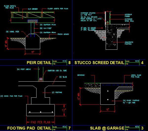 Construction Details Cad Library Autocad Blocks Autocad