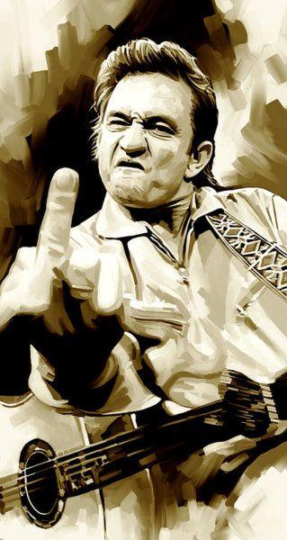 Celebrity Wall Art Painting Johnny Cash Artwork 2 By Sheraz A Johnny Cash Art Celebrity Wall Art Johnny Cash Tattoo