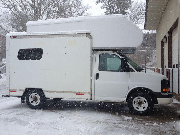 U Haul Box Truck Reimagined As Taj Masmall 2 0 Uhaul Truck Uhaul Camper