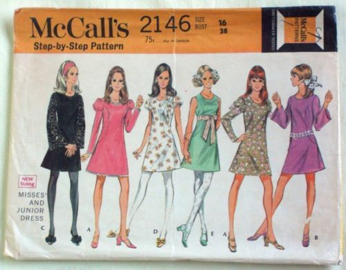 Vintage Dress McCall\'s 2146 Sewing Pattern Curved Bodice Misses 16 ...