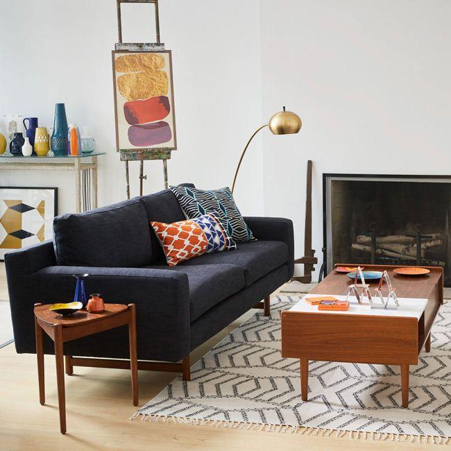 Eddy Sofa 1299 Cushions 54 Each Mid Century Pop Up Storage