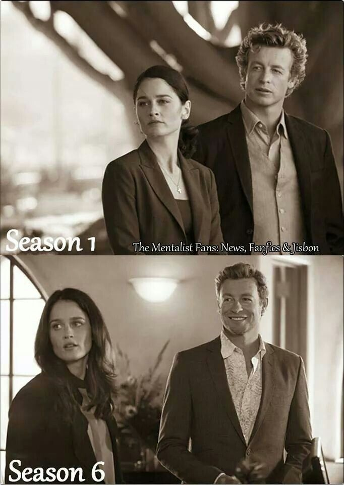 Then And Now - The Mentalist (season 1 through 6) Wow, Jane's hair do... xP