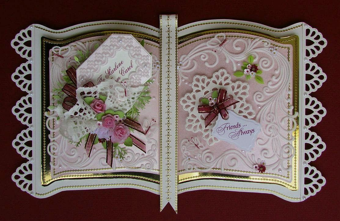 Using My Bookatrix Embossing Board To Make Three Pages It Took Me Almost A Month To Create All The Co Hand Crafted Cards Cards Handmade Wedding Cards Handmade