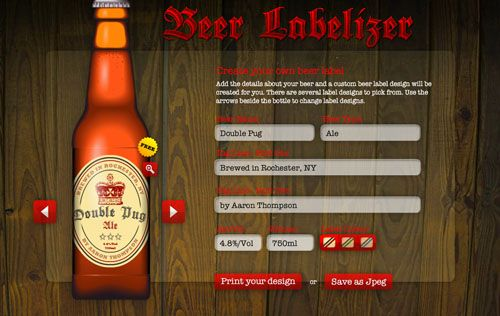 Free Beer Label Maker *Next steps Cut out the labels, apply with - free shipping label maker