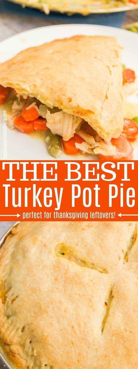 Turkey Pot Pie #turkeypotpie #dinner #thanksgiving #leftover #leftoverturkeyrecipeseasy