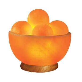 Himalayan Salt Bowl Lamp With Round Massage Stones From Sunrise Wholesale  Dropshipping