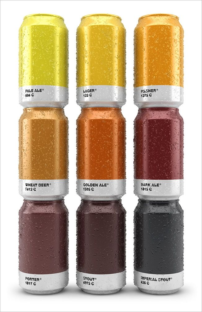 Awesome Beer Cans Show the Pantone Color of the Brew That's Inside.  Drink it up, designers  (AdWeek.com 17 September 2014)