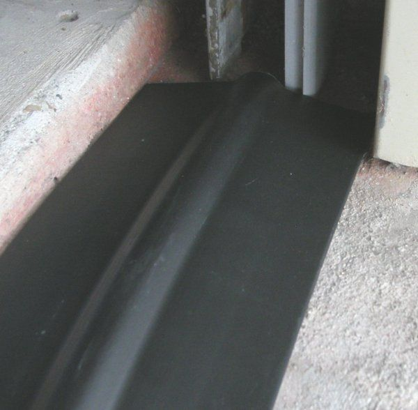gray park seal door threshold clean site garage page sealconcrete rubber