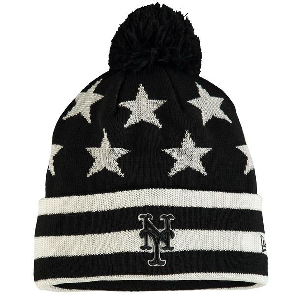size 40 0b3f8 3feae ... spain new era new york mets youth black starry team cuffed knit hat  ef315 ae4eb ...