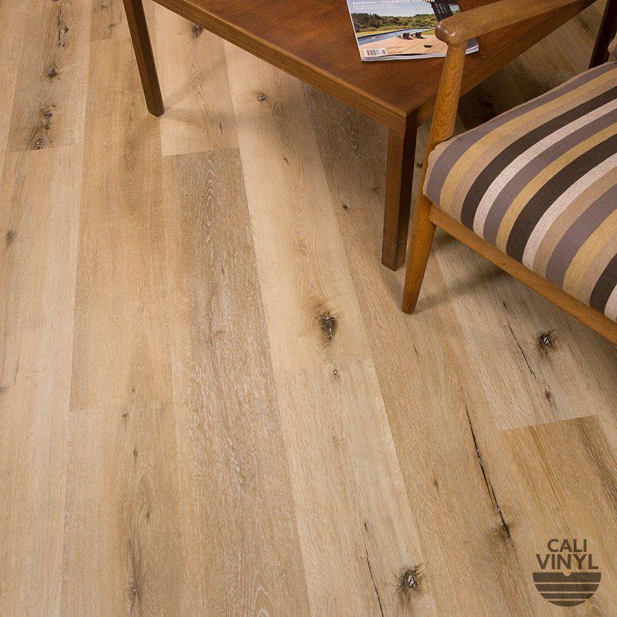 Cali vinyl wood look flooring wide plank sample bamboo floor
