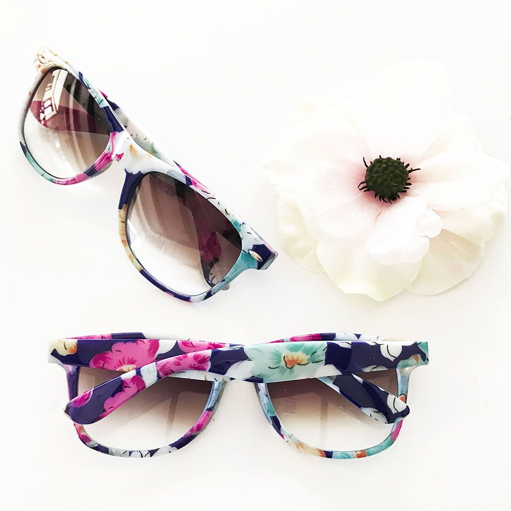 Floral Sunglasses - Blank | Unique wedding favors, Shower favors and ...