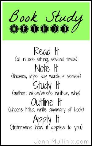 Methods of Bible Study - Bible Study Tools