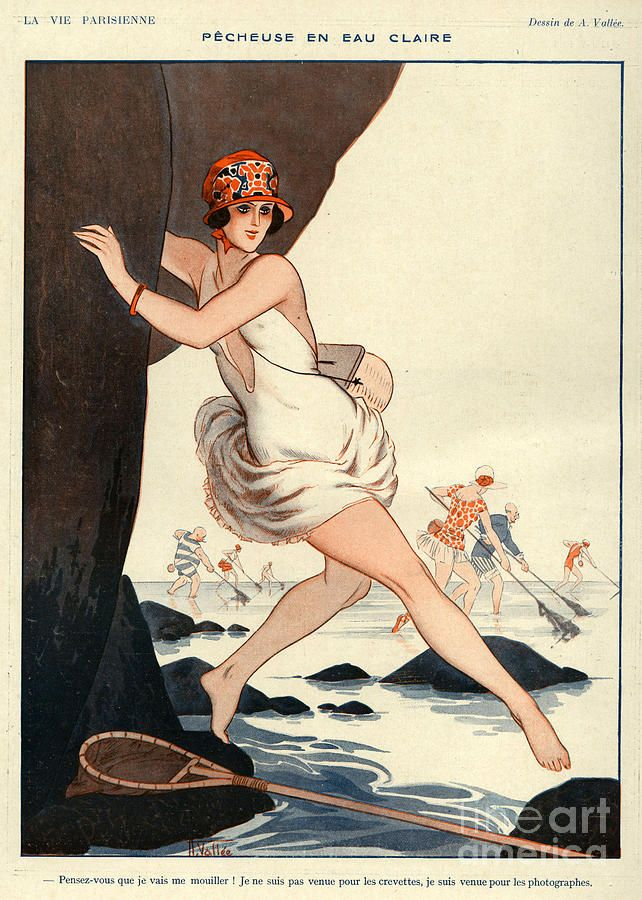 La Vie Parisienne 1923 1920s France Canvas Print / Canvas Art by The Advertising…