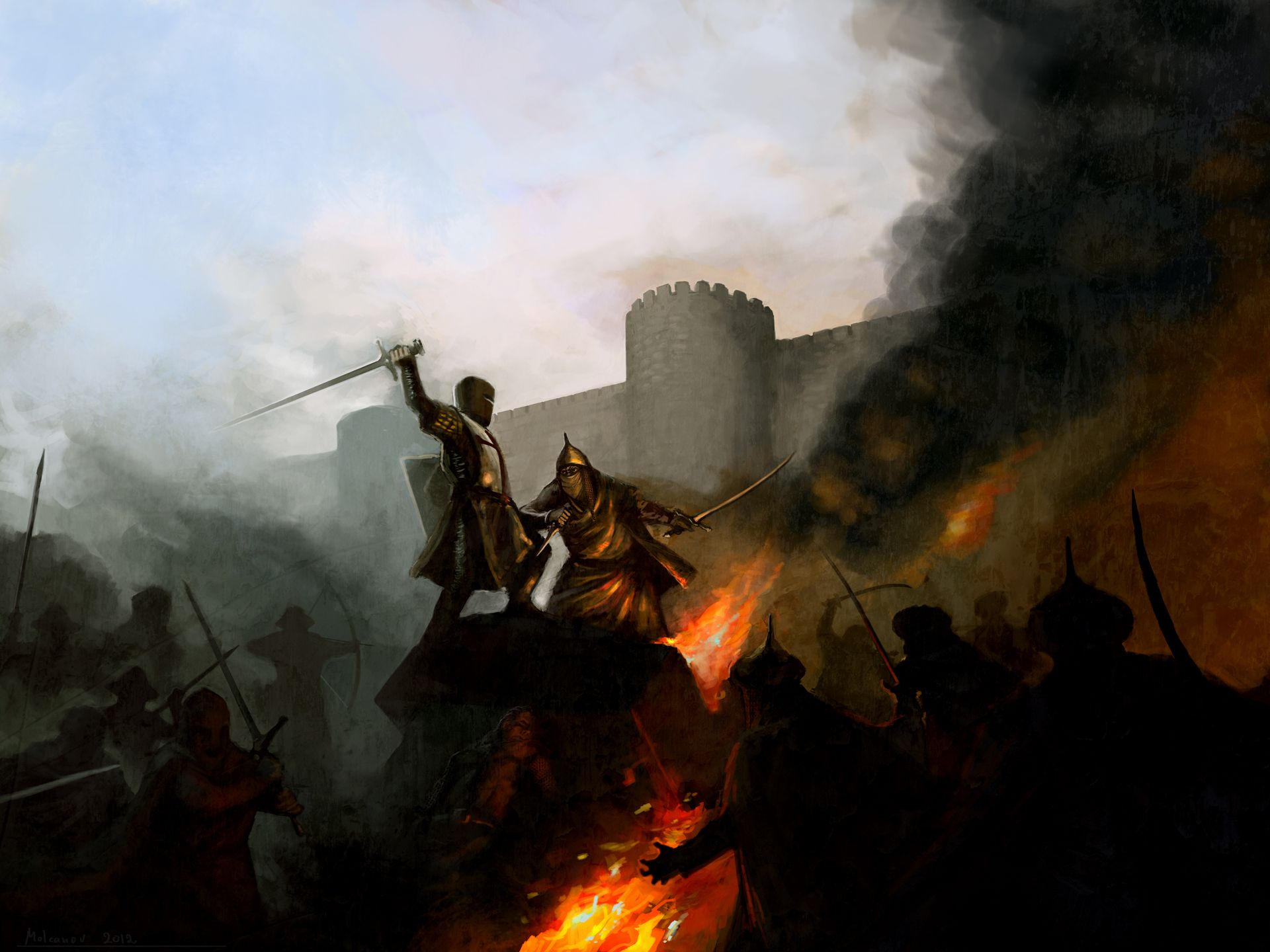 Pin By Mark Beerdom On Crusaders War Art Crusader Wallpaper Crusader Kings 2 Crusades