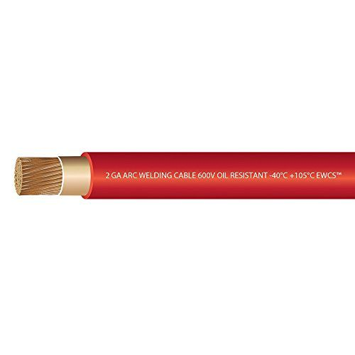 2 Gauge Premium Extra Flexible Welding Cable 600 Volt Ewcs Brand Red 15 Feet Made In The Usa Sunlight Resista Welding Cable Welding Equipment Welding