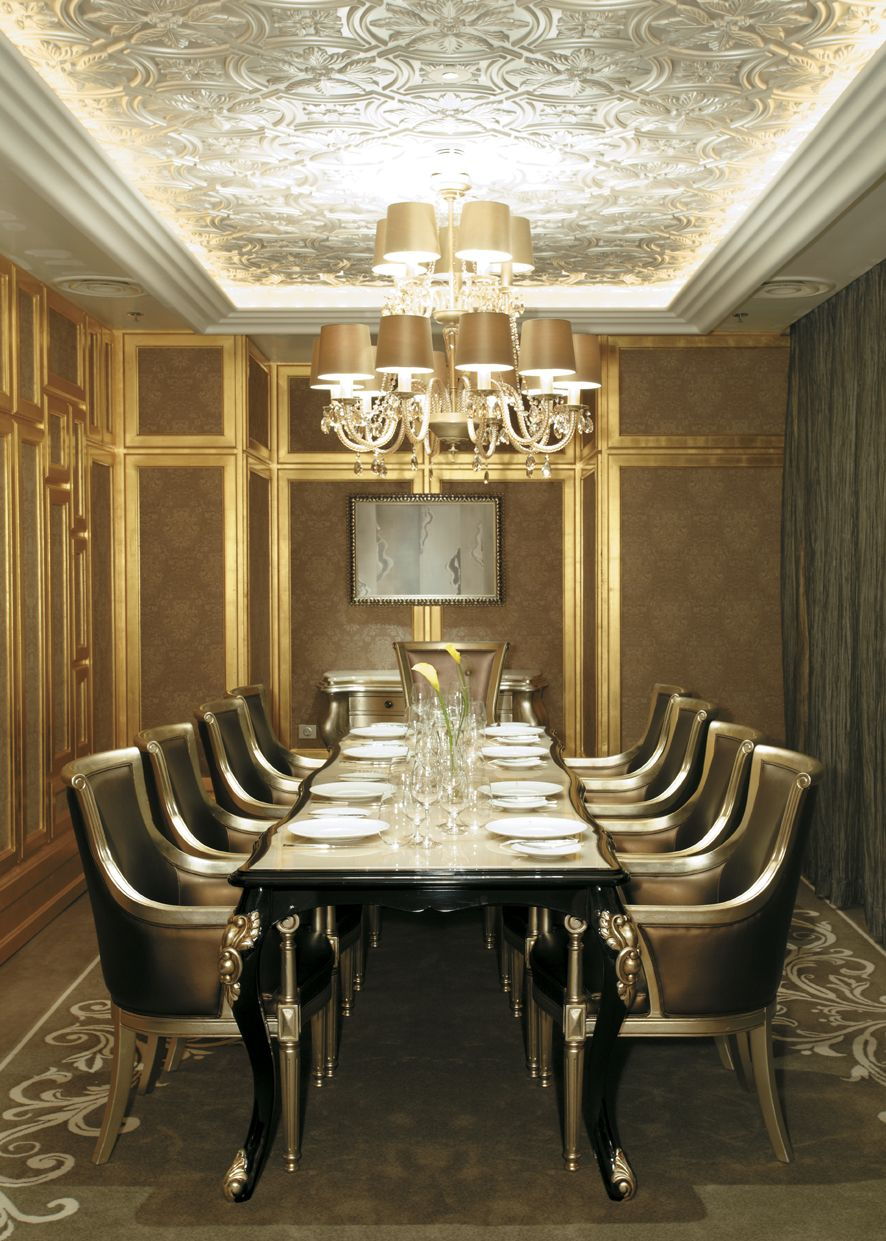 Private Room of Les Menus par Pierre Gagnaire restaurant at Lotte Hotel Moscow