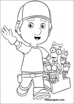 Printable Handy Manny and Tools Coloring Pages  Printable