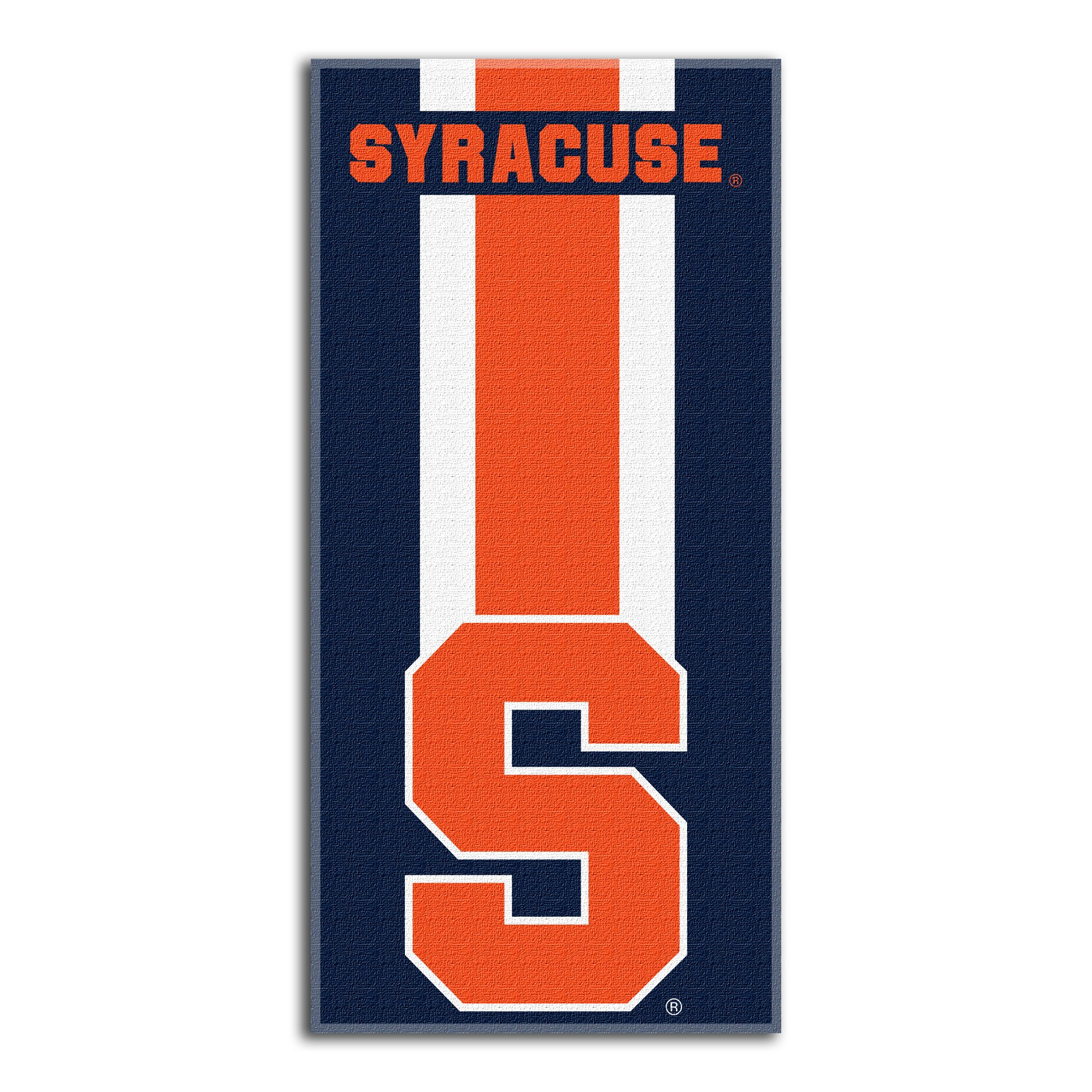 Syracuse Official Collegiate Zone Read 30 X 60 Beach Towel By