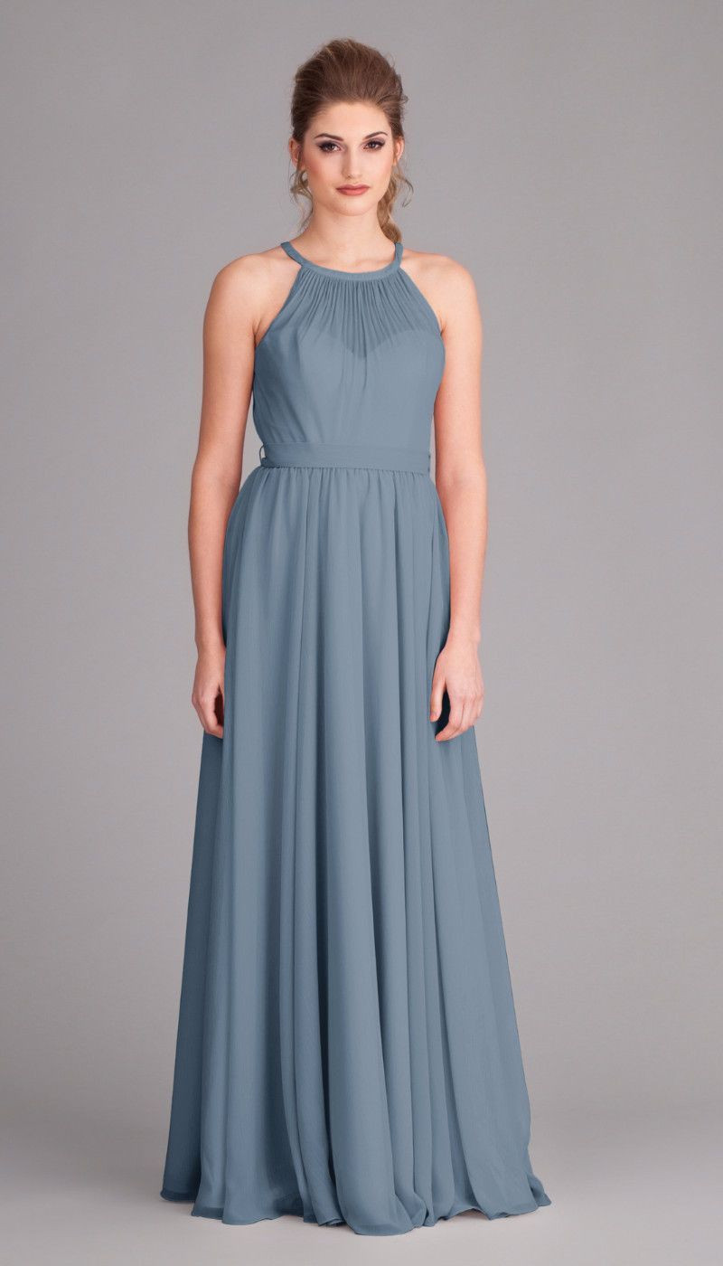 Kylee chiffon bridesmaid dresses high neck bridesmaid dresses and