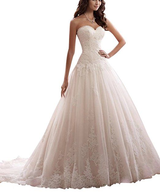 Brautkleider für die Braut aus Schulter Kristall Perle Spitze ...