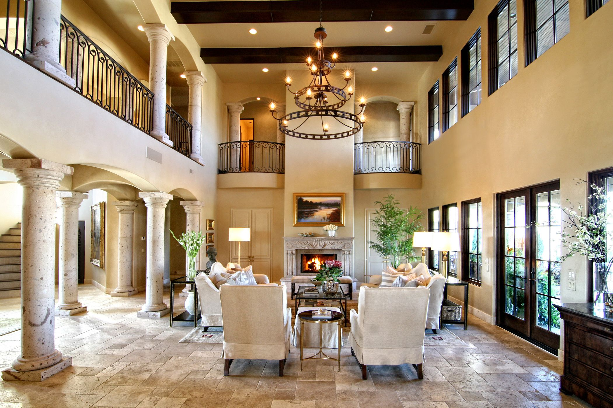Horseshoe bay tuscan lake house living room by zbranek holt custom homes horseshoe bay