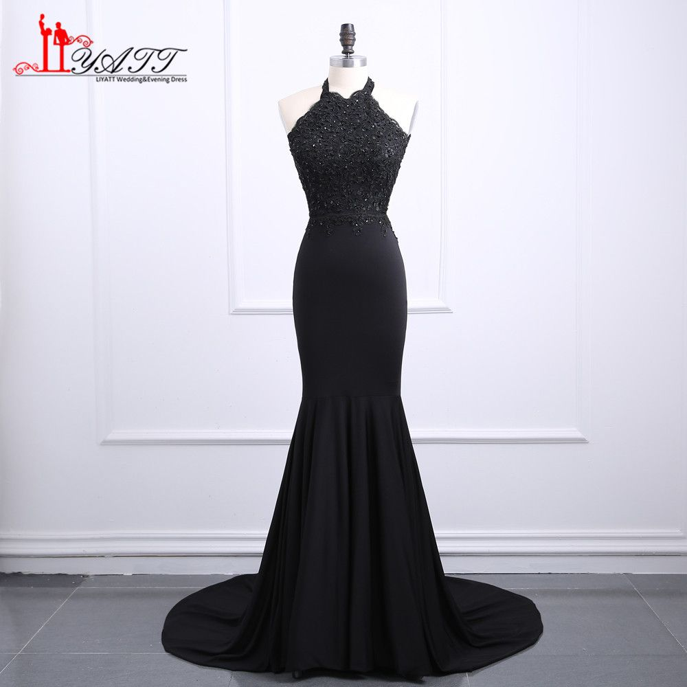 Click to buy ucuc sexy real image black mermaid prom dresses