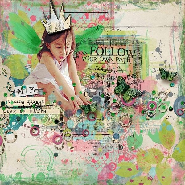 artful scrapbook layouts | Digital Scrapbook Layout by LiLi using supplies by Captivated Visions