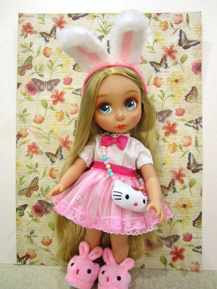 "Disney Animators 16"" clothes sweet pink Alice Rabbit outfit set #DollClothingAccessories"