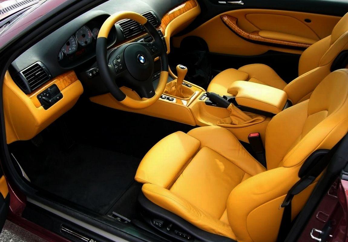 Bmw 3 Series E46 Black And Orange Or Yellow Interior Tan Auto