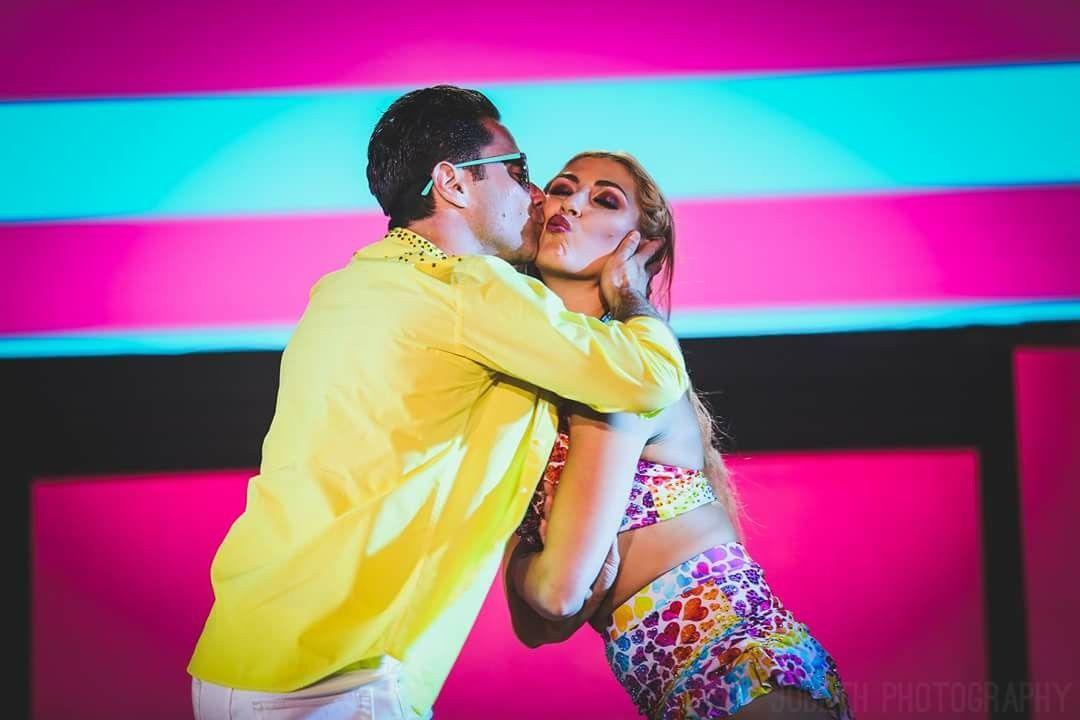 Sasha Farber Giving His Fianceé Emma Slater A Kiss On The Cheek Dancing With The Stars Dance Sasha Farber
