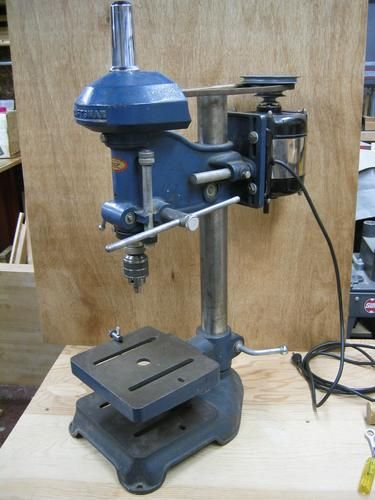 Photo Index Sears Craftsman 101 03580 Bench Model Drill Press Vintagemachinery Org Drill Press Sears Craftsman Drill