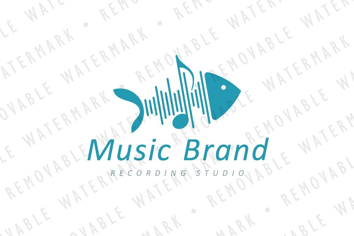 Sound Wave Fishbone Logo Ready made Logo Store