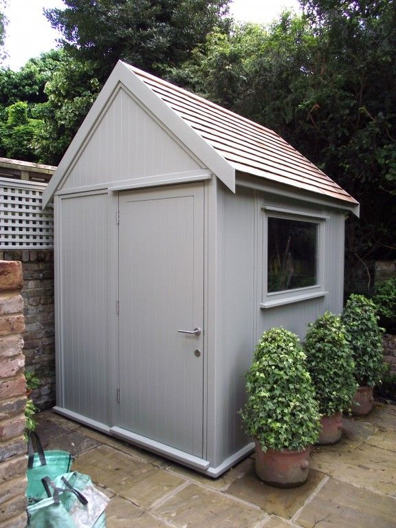 image result for images of painted garden sheds