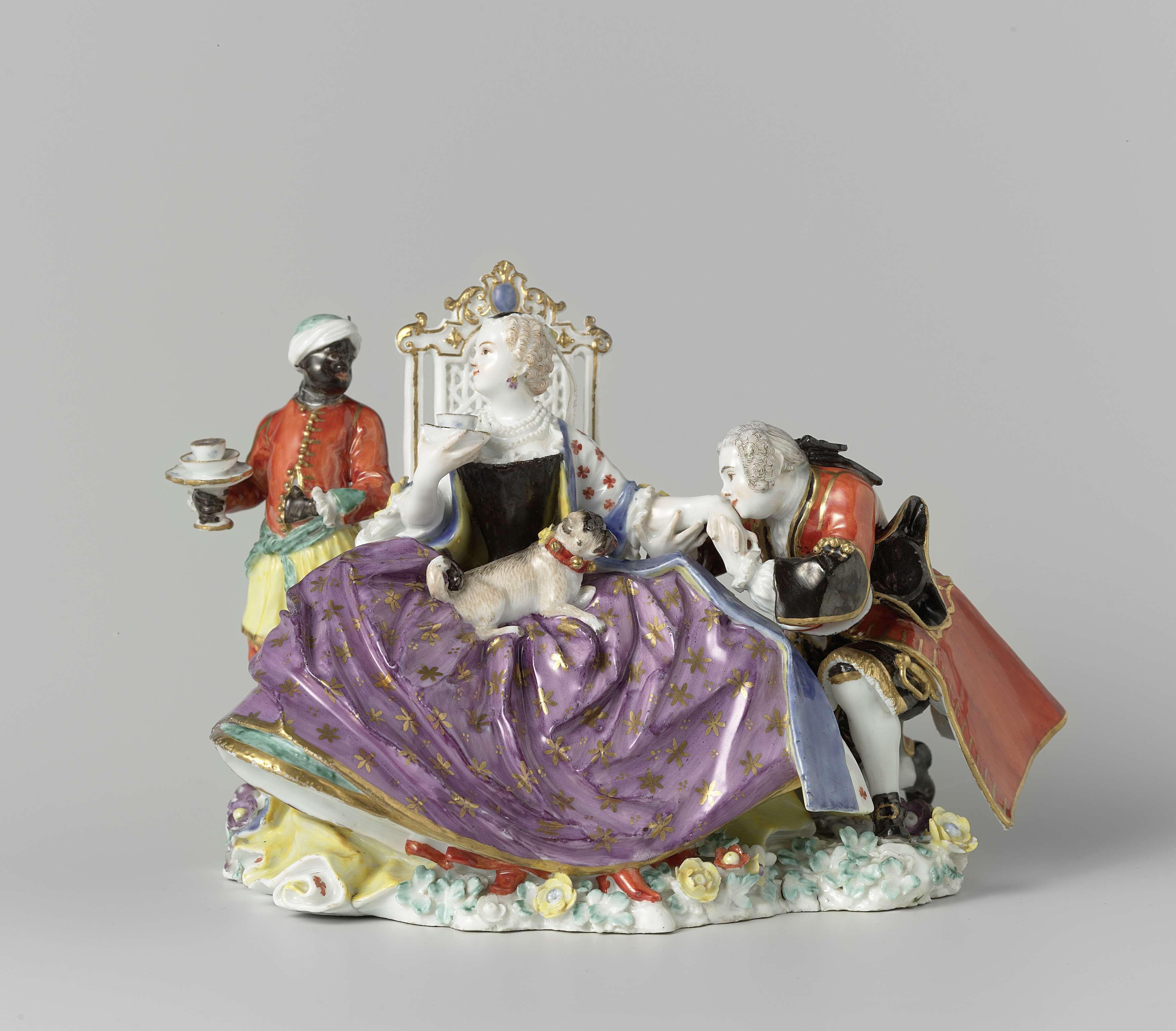 meissener porzellan manufaktur lady and cavalier known. Black Bedroom Furniture Sets. Home Design Ideas