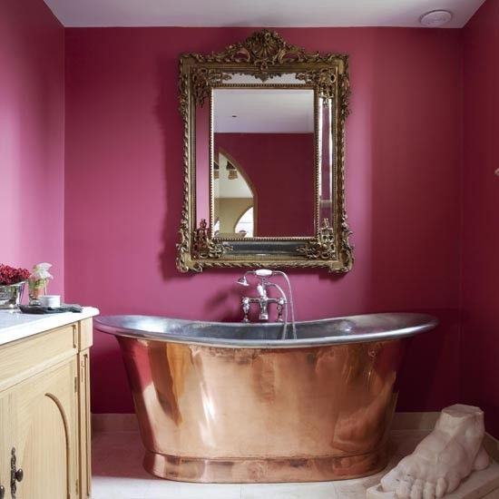 a lick of paint either as a feature wall or across the whole room - Bathroom Designs And Colours