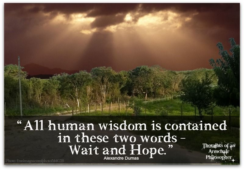 wait and hope #thoughts #inspirational #wisdom #hope