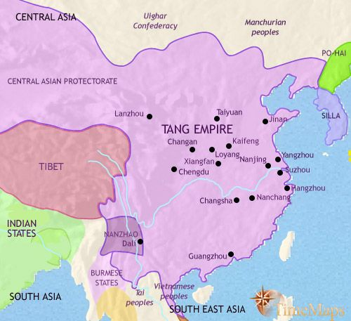 Map Showing History Of Ancient China Under The Shang Dynasty