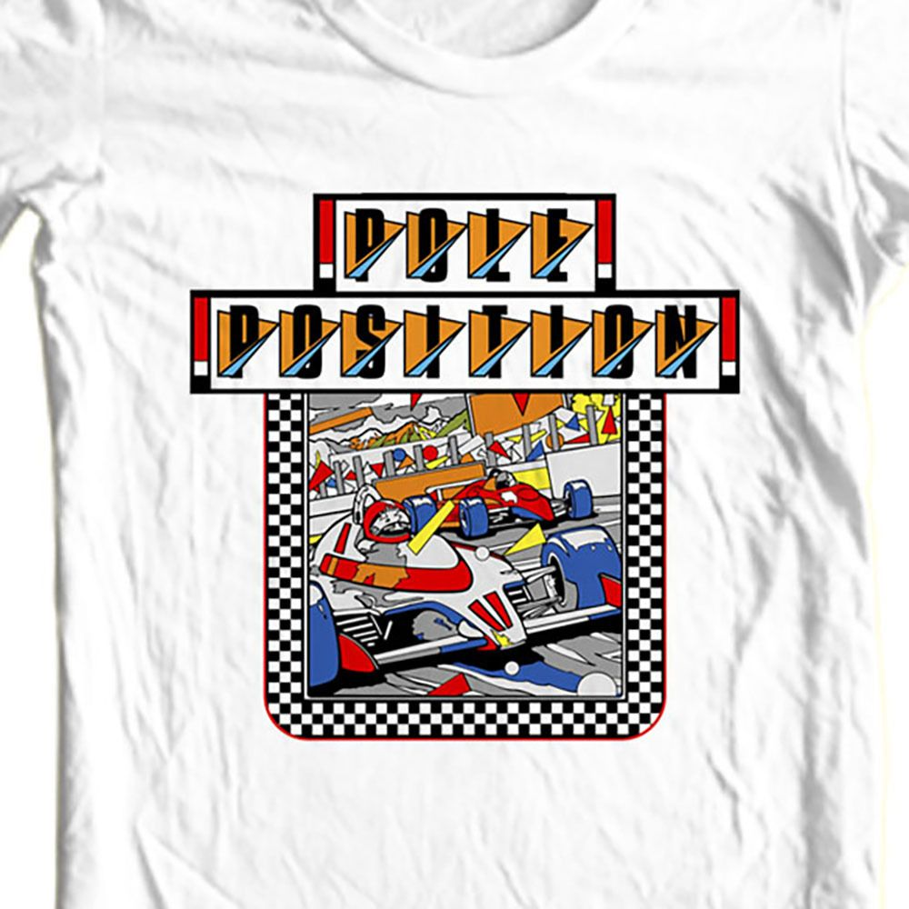 Pole position t shirt retro old video game arcade 80 s