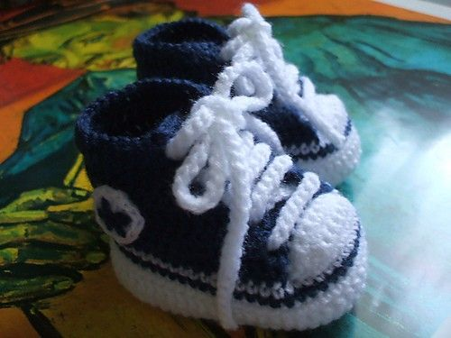 Crochet Baby Converse Shoes Really