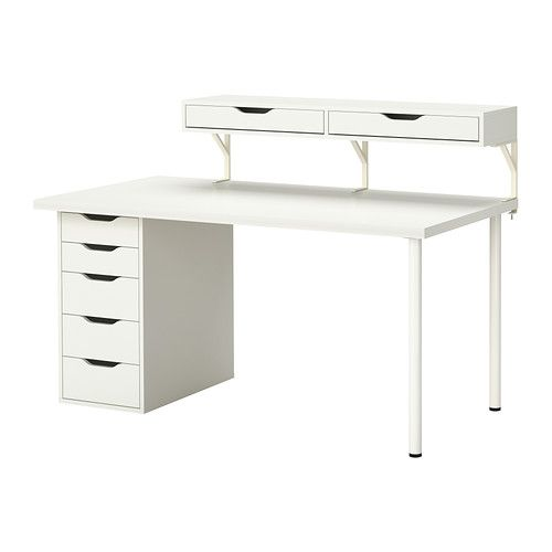 IKEA LINNMONEKBY TRE Combinacin de escritorio Orificios
