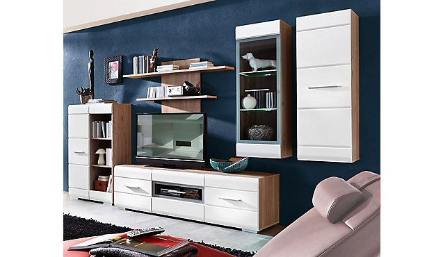 Wohnwand Mit Led Beleuchtung Wall Unit With Led Lighting