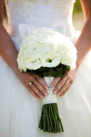 Flower photo, captures the dress beautifully as well
