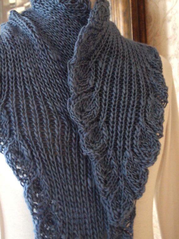 Scarf Knitting Pattern - Ruffle | Schal | Pinterest | Bufanda larga ...
