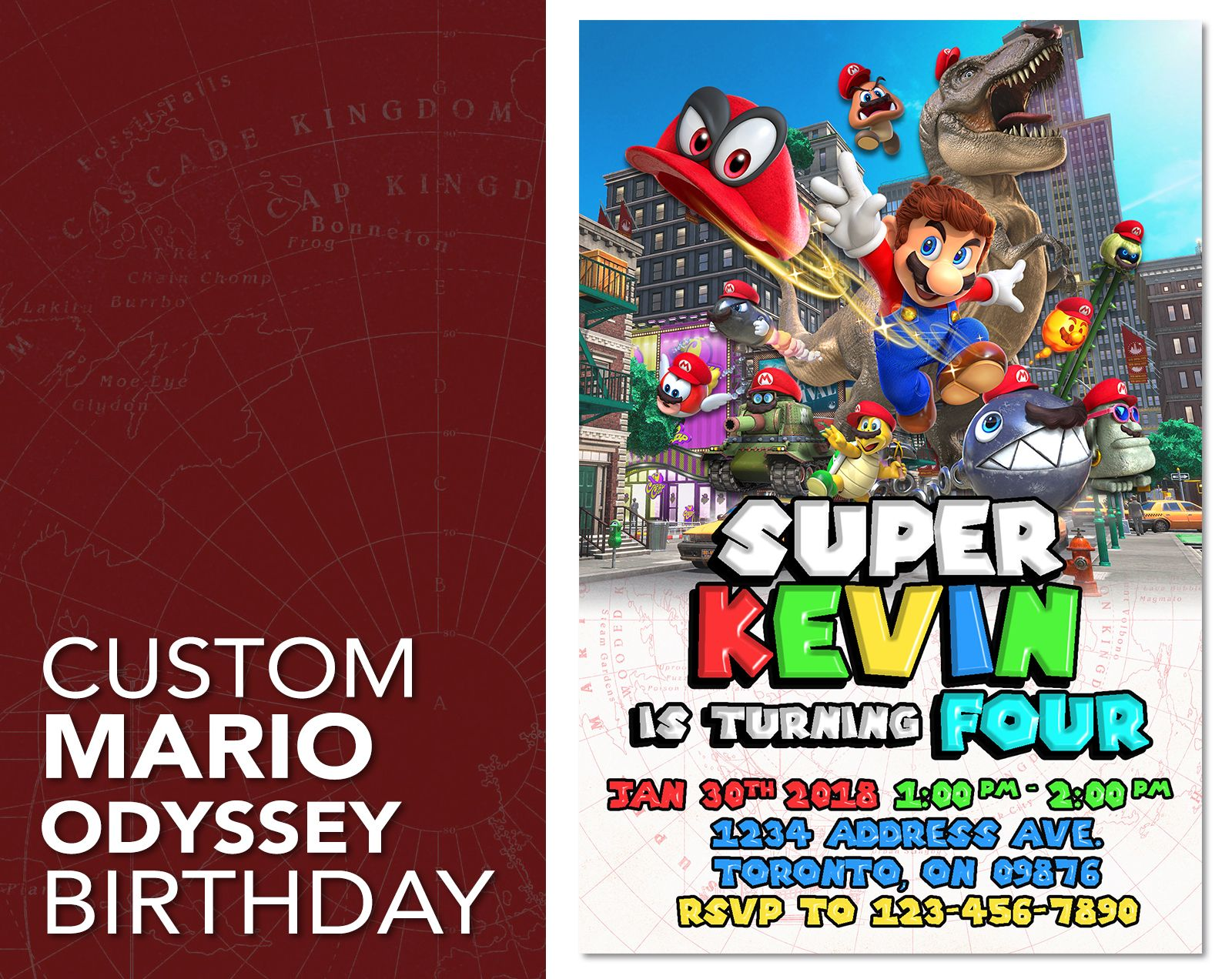Design Websites Customized Super Mario Odyssey Birthday Invitations Get In Touch Contactijdesignsca