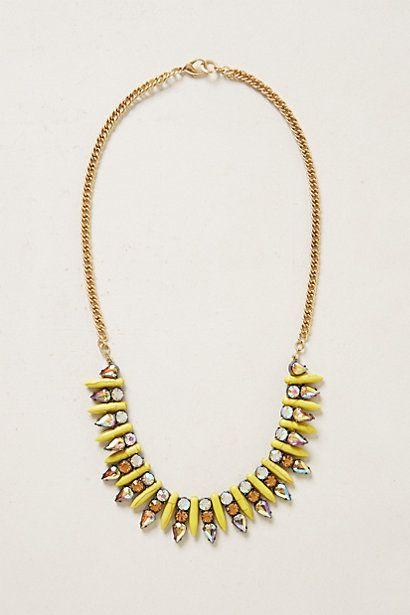 """Undine Necklace details      Lobster clasp     Metal, acrylic, glass     21""""L, 0.75""""W     Imported     Style #: 30051098"""