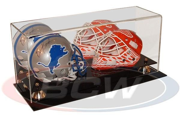 Brand New Deluxe UV Protected Mini Football Helmet Display Case w// Mirror Back