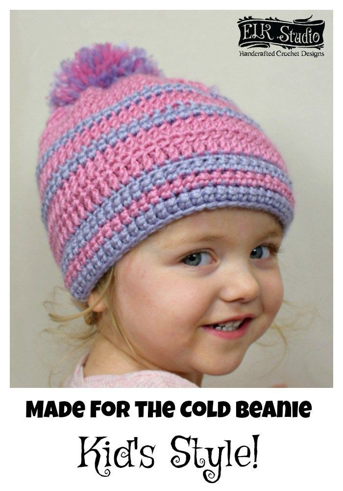 Made for the Cold Beanie Kid\'s Style | Häkelspitze, Mütze und Stricken