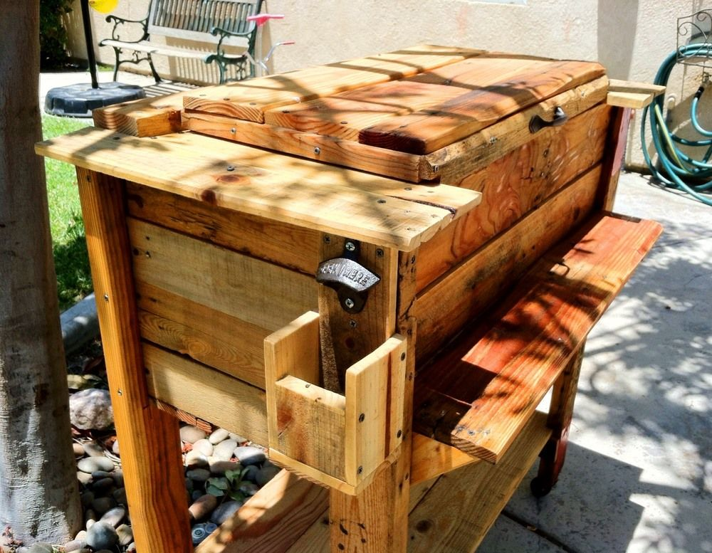 Party Cart Image Gallery Wooden Ice Chest Wooden Cooler Chests Diy