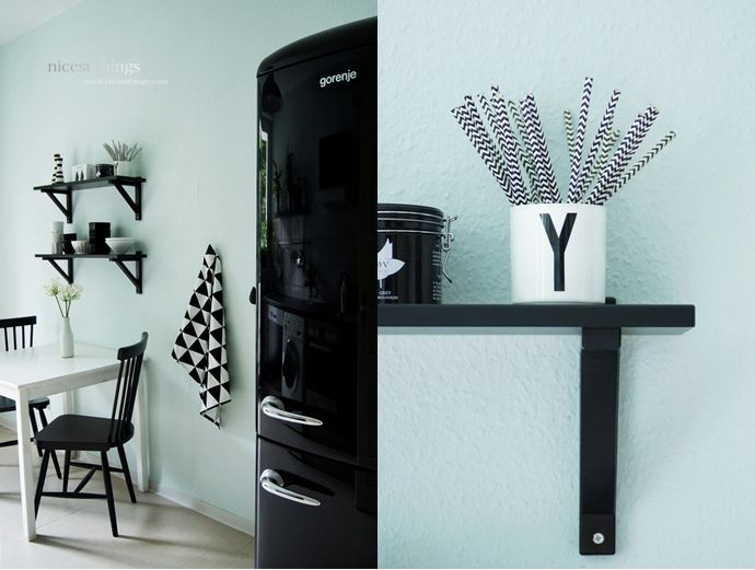 Gorenje Kühlschrank Mint : Kitchen in mint black and white küche zuhause und deins